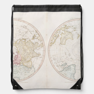 Early Map 1790 of Northern Southern Hemispheres Drawstring Backpack