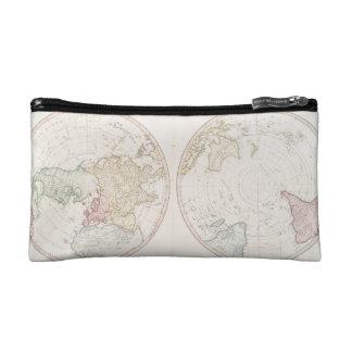 Early Map 1790 of Northern Southern Hemispheres Makeup Bag