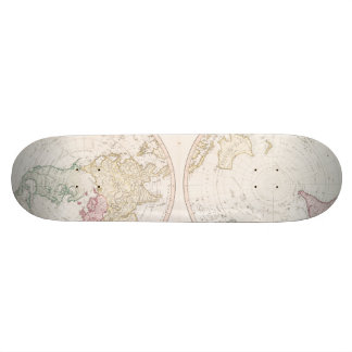 Early Map 1790 of Northern Southern Hemispheres Skateboard Deck