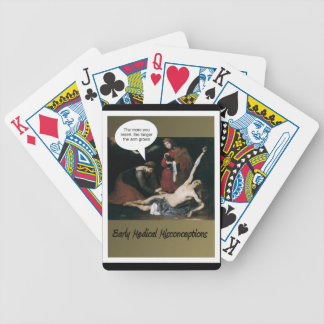 Early Medical Misconceptions -Funny Bicycle Playing Cards