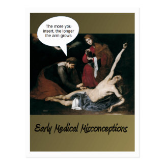 Early Medical Misconceptions Postcard