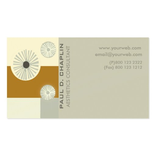 Early modern contemporary art style edgy double sided for Edgy business cards