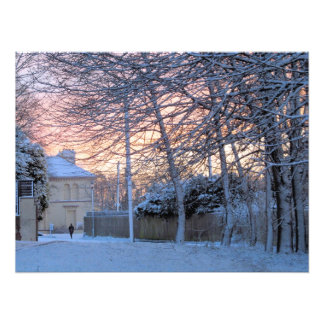 Early Morn Snowy Winter Photograph