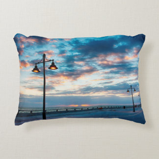 Early Morning along Atlantic Ocean and the Key Decorative Pillow
