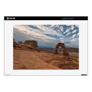 """Early Morning at Delicate Arch 15"""" Laptop Decal"""