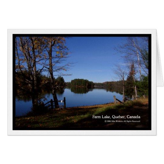 Early Morning At Farm Lake Card