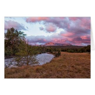 Early Morning at Many Glacier - Glacier NP Card