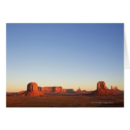 Early morning at Monument Valley Navajo Tribal Greeting Cards