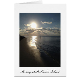 Early Morning at St. Simon's Island Card