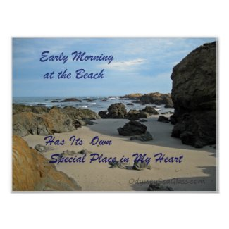 Early Morning at the Beach Poster