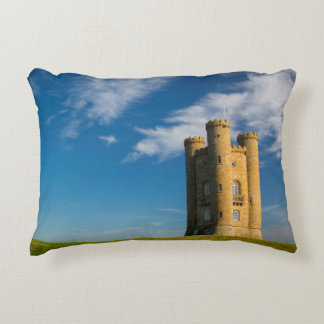 Early morning at the Broadway Tower Accent Pillow