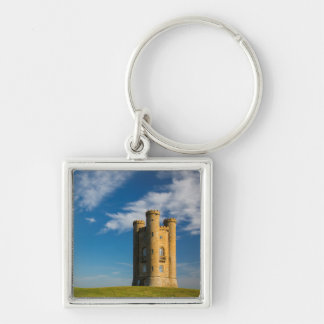 Early morning at the Broadway Tower Silver-Colored Square Keychain