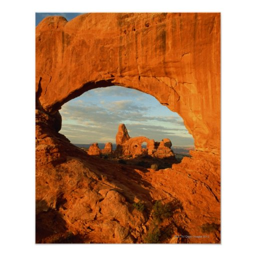 Early morning at Turret Arch seen through North Poster