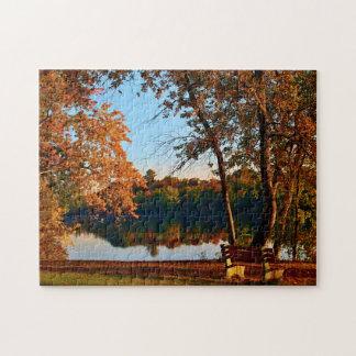 Early Morning Autumn Scene Jigsaw Puzzle