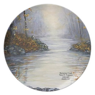 EARLY MORNING BEARGRASS CREEK  MELAMINE PLATE