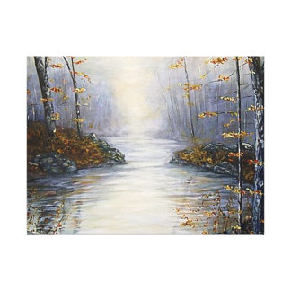 EARLY MORNING BEARGRASS CREEK WRAPPED CANVAS PRINT