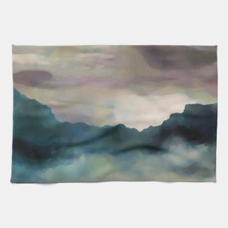 Early Morning Clouds Consume the Mountains Towel