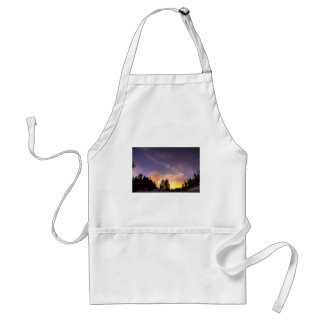 Early Morning Colorful Colorado Milky Way View Adult Apron