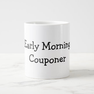 Early Morning Couponer Jumbo Mug