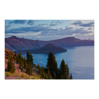 Early Morning, Crater Lake Poster