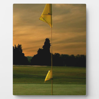 Early morning golf photo plaque