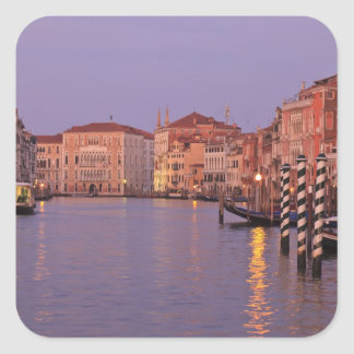 early morning Grand Canal Tour, Venice, Italy Square Sticker
