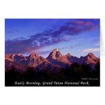 Early Morning Grand Teton National Park Greeting Cards