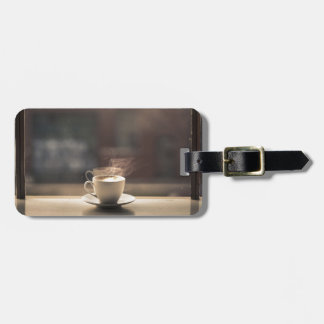 Early Morning Hot cup of Coffee Luggage Tag