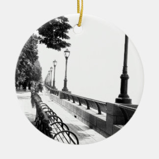 Early Morning in Manhattan Double-Sided Ceramic Round Christmas Ornament