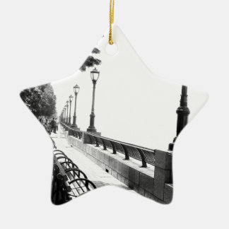 Early Morning in Manhattan Double-Sided Star Ceramic Christmas Ornament