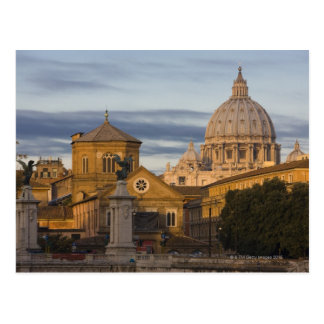 early morning light on the dome of St Peter s Postcard
