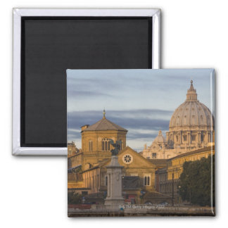early morning light on the dome of St Peter's 2 Inch Square Magnet