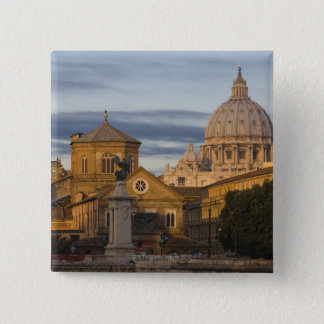 early morning light on the dome of St Peter's Pinback Button