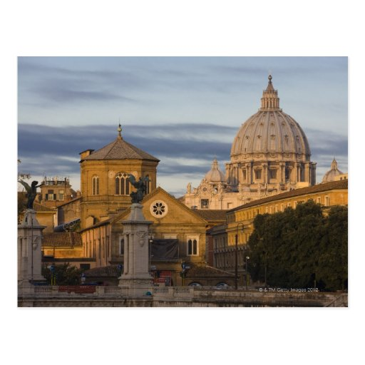 early morning light on the dome of St Peter's Postcard