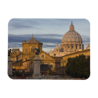 early morning light on the dome of St Peter's Rectangular Photo Magnet