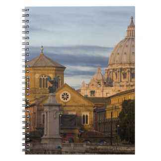 early morning light on the dome of St Peter's Spiral Notebook