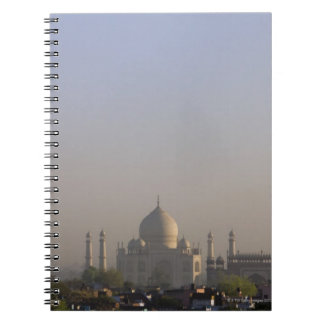 Early morning light on the dome of the Taj Mahal Notebook