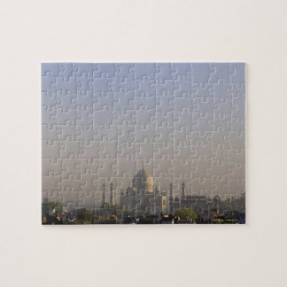 Early morning light on the dome of the Taj Mahal Jigsaw Puzzle