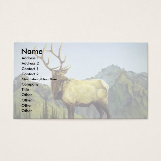 Early morning mist, Elk Business Card