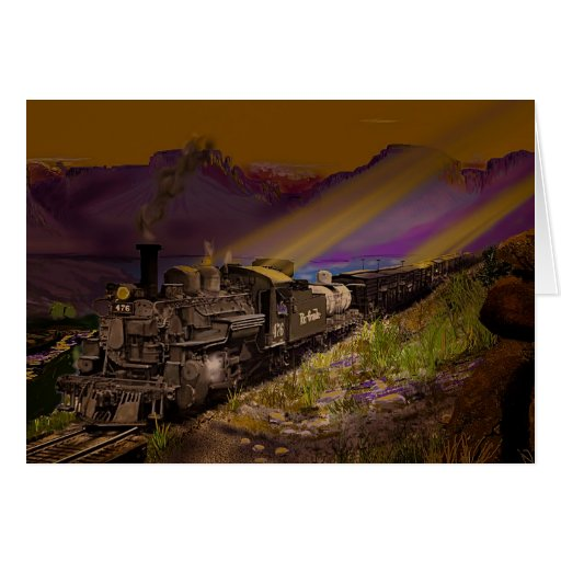 Early Morning on the Narrow Gauge Greeting Card
