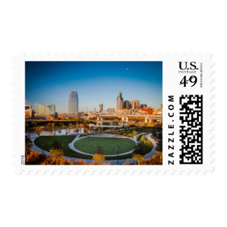Early Morning Over Nashville, Tennessee, USA 2 Postage
