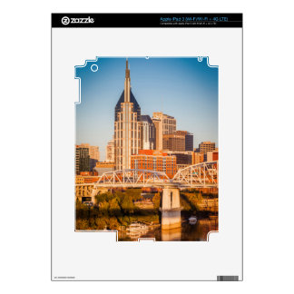 Early Morning Over Nashville, Tennessee, USA 3 Skins For iPad 3