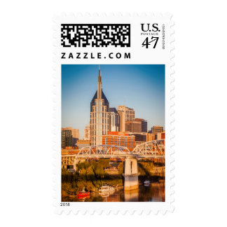 Early Morning Over Nashville, Tennessee, USA 3 Stamp