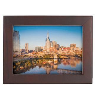 Early Morning Over Nashville, Tennessee, USA Keepsake Box