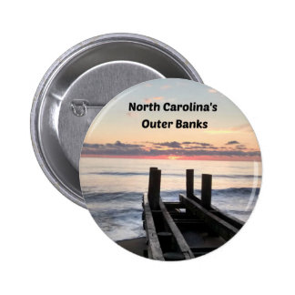 Early morning over the Outer Banks of NC Pinback Button