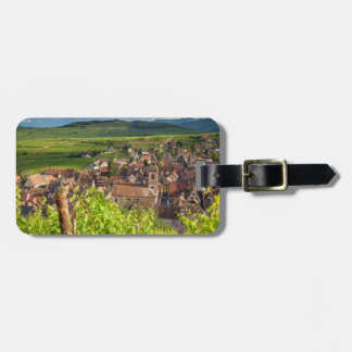 Early morning overlooking village of Riquewihr Tag For Luggage