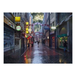 Early Morning Rain -- Amsterdam in November Posters