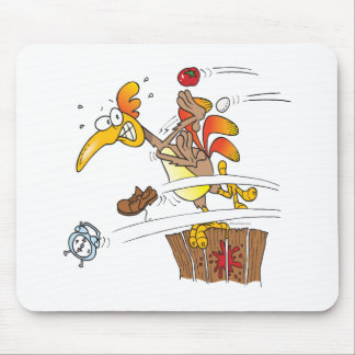 early morning rooster attack mouse pad