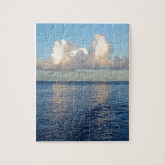 Early morning Seascape Cloud reflections Jigsaw Puzzle