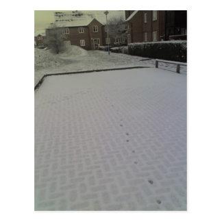 Early Morning Snow, Tonbridge 24-01-07 08.21am Postcard